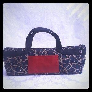 Handbags - ⚀Dark Blue Thick Fabric Patterned  Bag